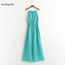 Shemujersky Women Jumpsuits Slik Overalls Rompers Off Shoulder Green Sexy Womens Jumpsuit Clothes 2019 Mono Mujer(China)