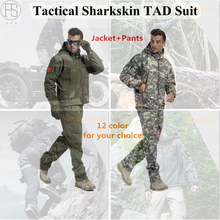 Military Tactical Sets Men Hunting Clothes Outdoor Sports Suit Hiking Camping Waterproof Sharkskin TAD Softshell Jacket + Pants