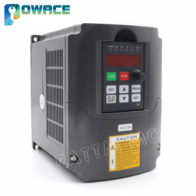 [RU/EU/USA Delivery] 2.2KW 220V VFD Inverter 3HP Variable Frequency Drive Output 3 Phase 400Hz&2M Extension Cable