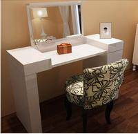 Modern dresser. Simple fashion of the lacquer that bake to receive vanity. Flip dresser