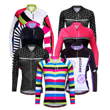 spring summer mountain bike cycling jersey anti-sweat quick dry long sleeve mtb tops bicycle clothing girls women cycling jacket(China)