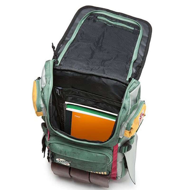 Image 2 - Zebella Star Wars Backpacks Yoda Boba Fett Laptop Men Backpack Vintage Travel Bags Games Movies Anime Male Bags-in Backpacks from Luggage & Bags