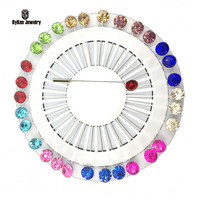 30pcs Set Hijab Pins Trendy Zinc Alloy Real Broche Juego De Tronos Hijab Pins Brooches Wholesale