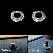 цена на for BMW Mini Cooper R50 R52 R55 R56 F55 F56 R60 Countryman Car Styling Door Pin Diamond Ring Decoration Door Lock Sequin Sticker