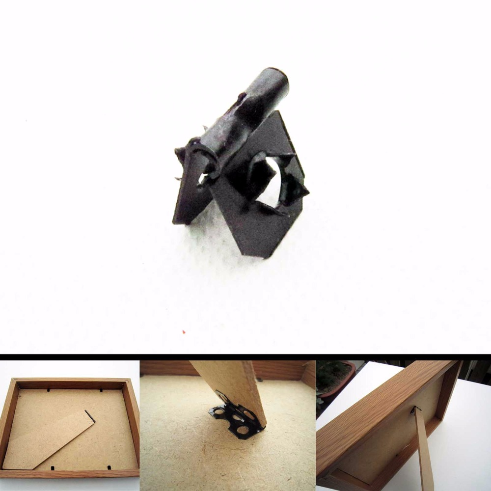 50pcs fix picture photo art work frame back board support stand 50pcs fix picture photo art work frame back board support stand leg barbed hinge without screw single hole 14x16mm in picture hangers from home improvement jeuxipadfo Image collections