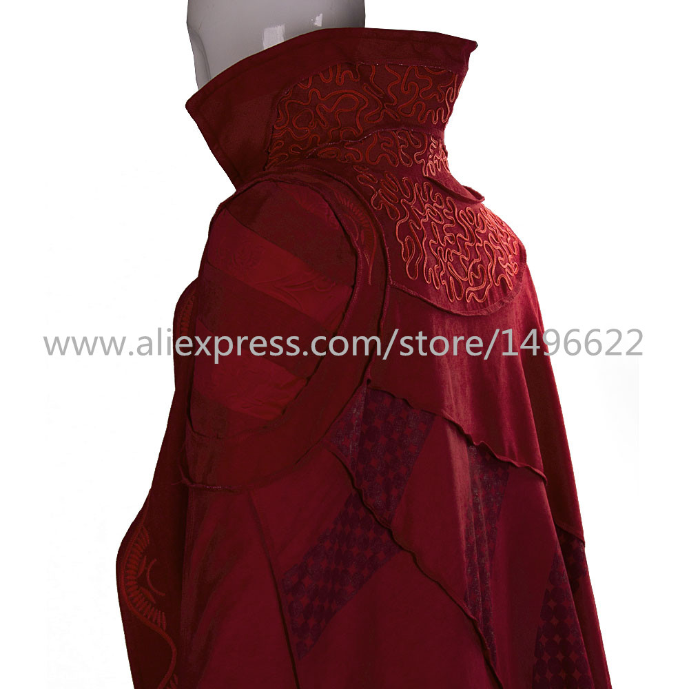 Doctor Strange Costume Kids and Adult Cosplay Steve Red Cloak Costume Robe Halloween Costume Party (4)