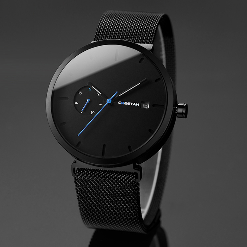 2018 New Fashion Simple Men Watch Waterproof Blue Point Casual Quartz Watches Men Date Week Analog Wristwatch Relogio Masculino все цены