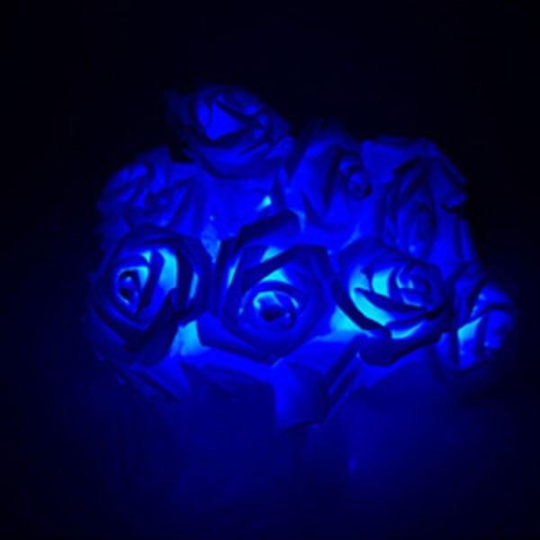 Fashion Light 10 LED Rose Flower String Lights 220V EU Plug Fairy Wedding Party Christmas Holiday Decoration CLH