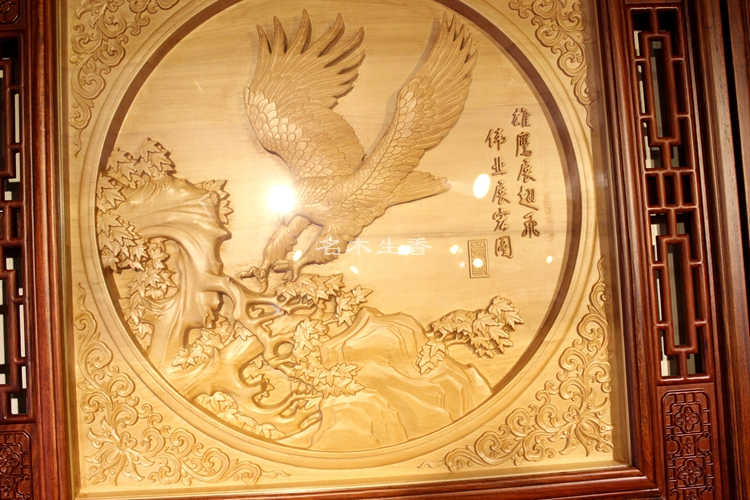 Dongyang classical wood carving Pendant boutique relief seat screen ...