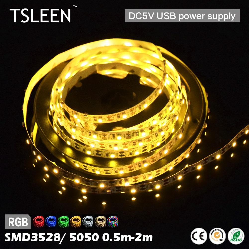 TSLEEN USB 5V LED Strip Clip RGB Led Strip Licht flexibel SMD - LED-Verlichting