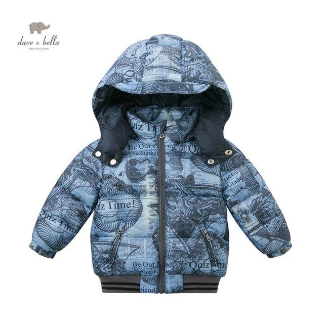 DB4678 дэйв bella дети пуховик мальчики зима обивка куртка одежда
