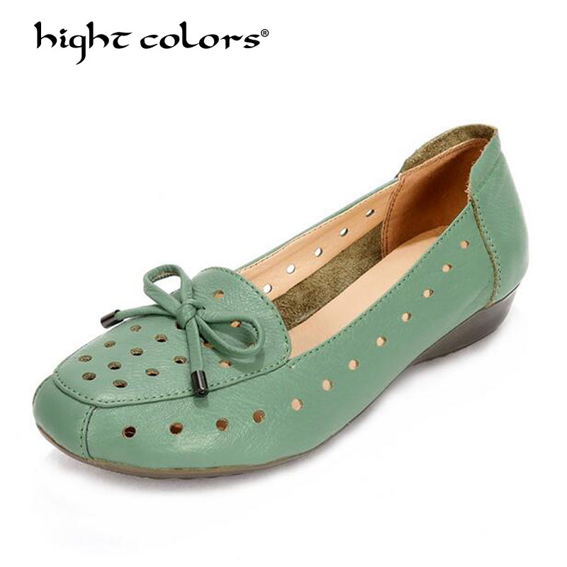 Summer Shoes Woman Genuine Leather Flat Sandals Causal Comfortable Flat With Nurse Shoes 2018 New Fashion Womens Shoes