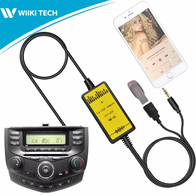 S2car Car Radio Usb Aux Interface Audio Mp3 Adapter Cd Changer For Honda Accord 2003 2017