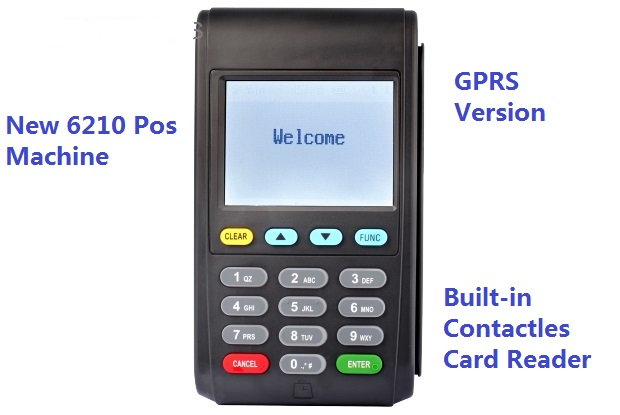 NEW6210 2.8inch Touch Screen Mobile POS Payment GPRS Version Built in Contact-less Card Reader Supporting Electronic Signature