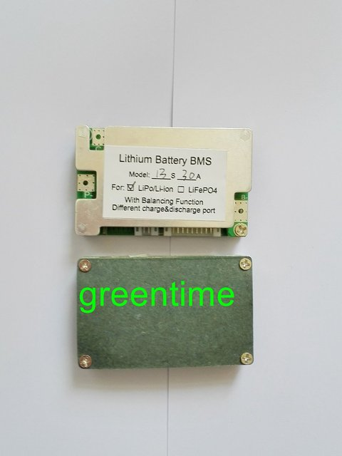 13S Lithium battery protection board 48v(54.6V) Li-ion/LiPo/LiMn Batteries BMS 30A continuous discharge