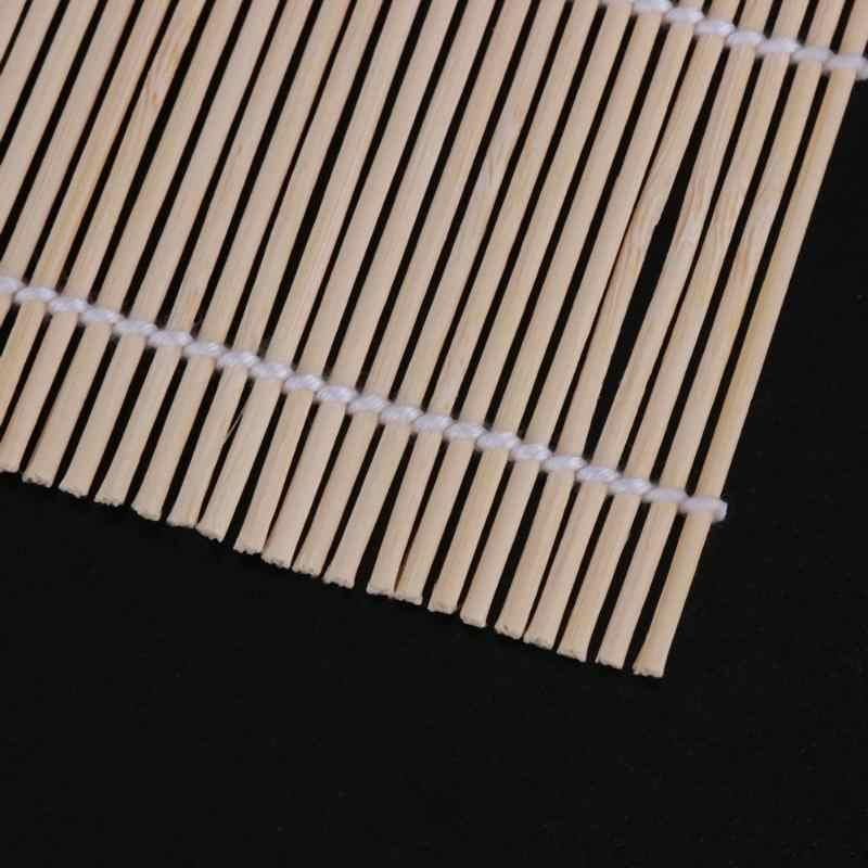 Diy fabricante de sushi tapete japonês sushi arroz rolo de rolamento antiaderente lidar com bambu ferramenta de cozinha acessório sushi maker ferramenta