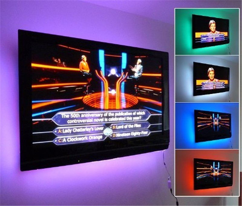 5V LED Strip Qara PCB nəzarətçi ilə 5050 RGB DC5V TV Fon İşıq - LED işıqlandırma - Fotoqrafiya 4