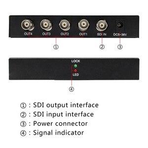 Image 2 - Wiistar SDI Splitter 1x4 Multimedia Split Extender Full HD 1080P SDI 4 Ports Splitter SD HD 3G SDI for TV SDI Camera