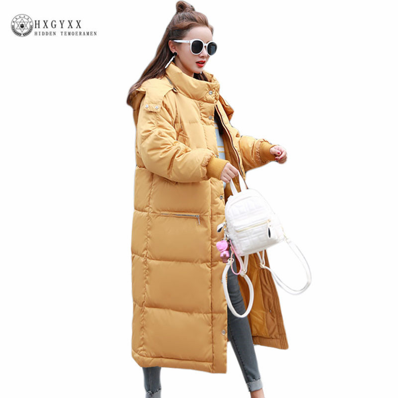 New Winter Jacket Women 2017 Thick Warm Female Cotton Coas Plus Size Loose Hooded Parka Long Solid Color Snow Outerwear Okb380 new winter women s down cotton coats fashion solid color hooded fur collar bread jacket plus size thick warm outerwear okxgnz860