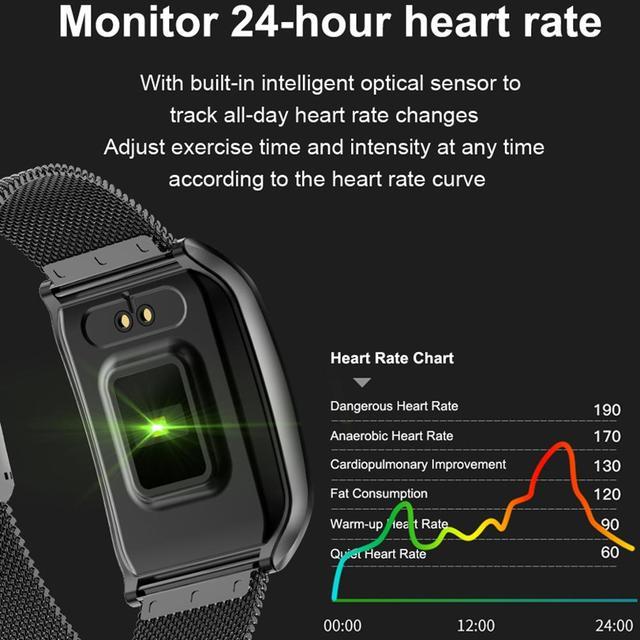 LEMDIOE all-metal IP68 waterproof  smart watch men heart rate Blood Pressure sleep monitor health smartwatch for android ios