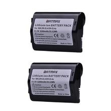 2 pièces 11.1 V 3200 mAh EN EL4 EN EL4 EN EL4a ENEL4a Caméra Batterie Batterie Akku pour Nikon D2H D2Hs D2X D2Xs D3 D3S F6 MH 21 Caméras