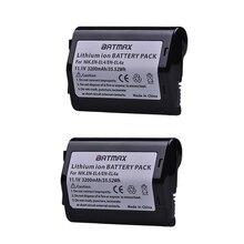 2Pcs 11.1V 3200mAh EN EL4 EN EL4 EN EL4a ENEL4a Camera Battery Bateria Akku for Nikon D2H D2Hs D2X D2Xs D3 D3S F6 MH 21 Cameras
