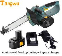 Free shipping 18 v rechargeable electric chain saw woodworking. Logging saws