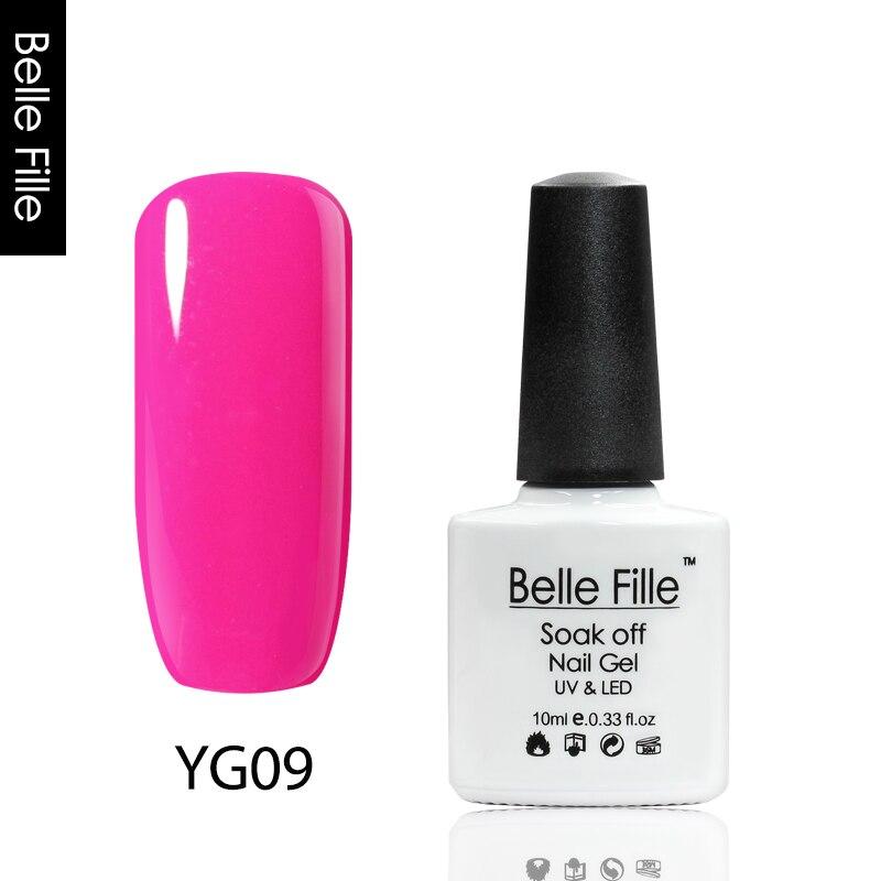 BELLE FILLE Neon Color UV Gel Nail Polish UV Nail Gel Color Lacquer ...