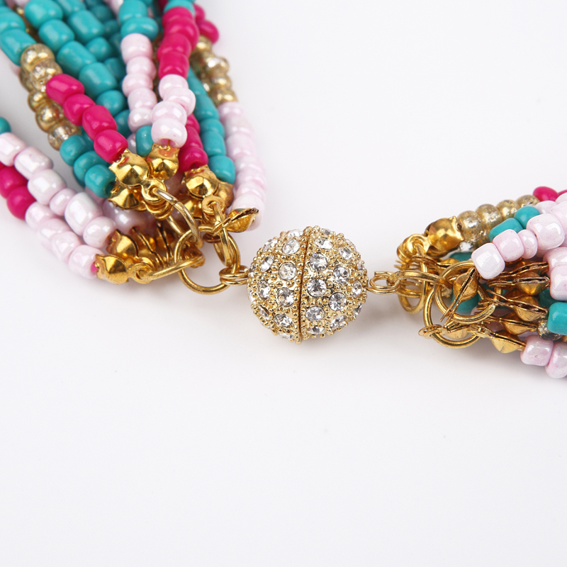 Handmade Pearl Seed Bead Bow Tie African necklace beads wrap ...