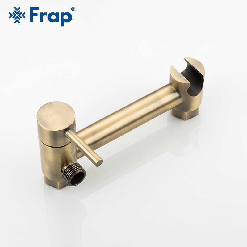 Grifos de ducha FRAP Bidet rociador de aire grifo mezclador caliente y frío kit de rociador de inodoro bidet rociador de bronce ducha cabeza de lavado higiénico