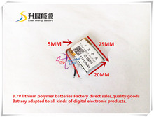 best battery brand Size 502025 3.7V 210mah Lithium polymer Battery With Protection Board For MP3 MP4 MP5 GPS Digital Products Fr