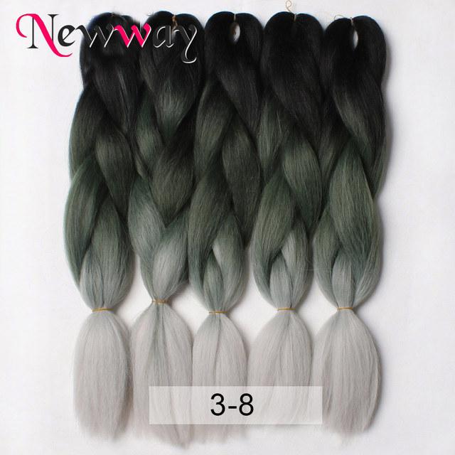 Astounding Aliexpress Com Buy Ombre Three Tone Colored Kanekalon Jumbo Short Hairstyles Gunalazisus