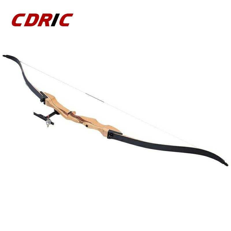 を新 68 インチ木製弓 20-32 ポンド木製ロング弓伝統ボウ後ろに反らす屋外アーチェリー狩猟射撃