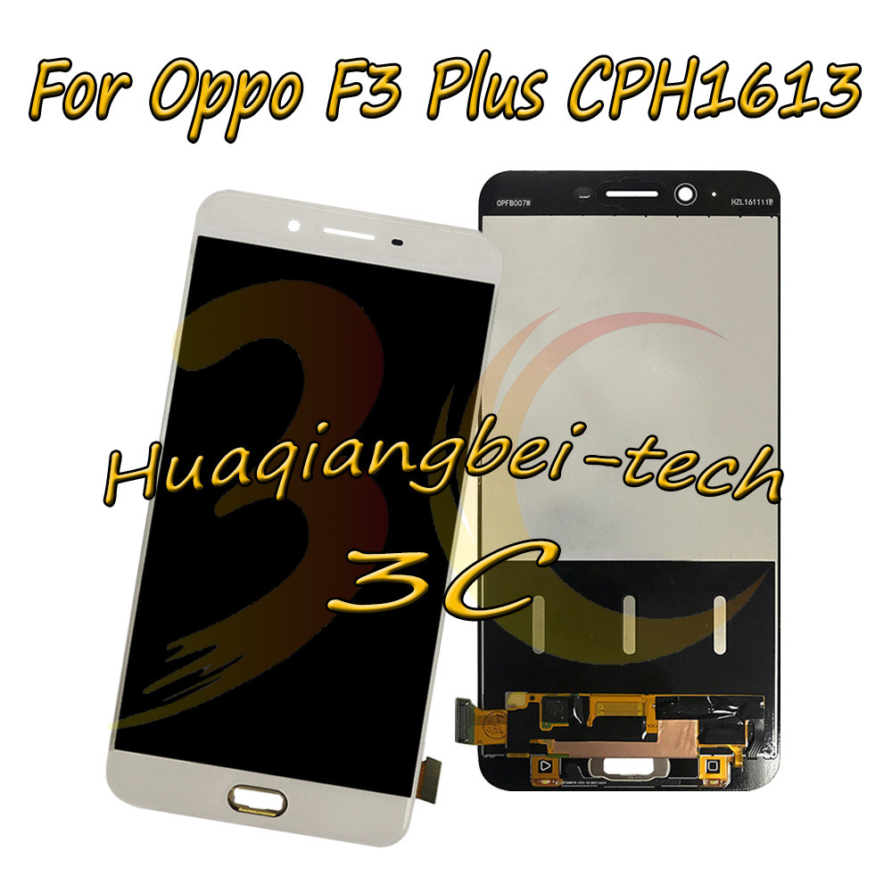 New 6.0 Black / White For Oppo F3 Plus CPH1613 Full LCD DIsplay + Touch Screen Digitizer Assembly 100% TestedNew 6.0 Black / White For Oppo F3 Plus CPH1613 Full LCD DIsplay + Touch Screen Digitizer Assembly 100% Tested