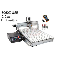 High power 2200W metal milling machine 8060 cnc router work stroke 585*790*65mm USB with Mach3 remote control