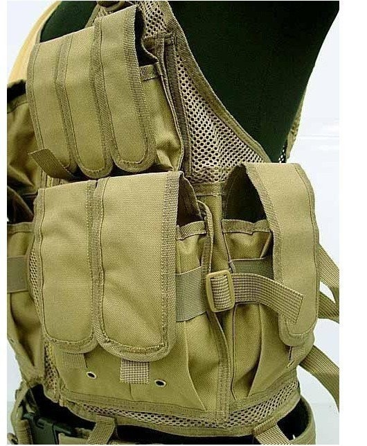 SWAT US SWAT Airsoft Tactical Hunting Combat Vest Coyote Brown