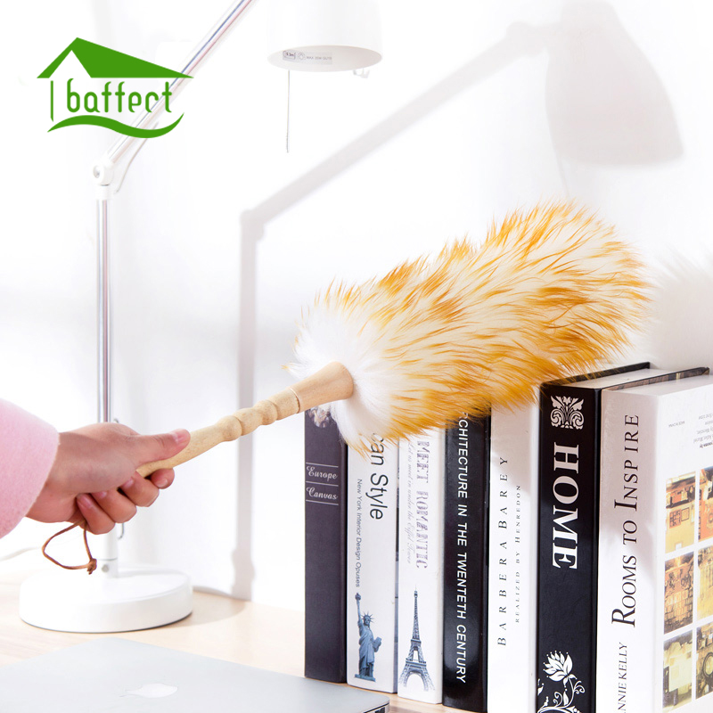Pure Wool Bamboo Handle Soft Microfiber Cleaning Duster Dust Cleaner Home Car Handle Feather Static Anti Magic Can be Washed