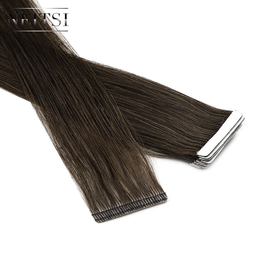 Neitsi Newest Tape In Remy Human Hair Extensions Invisible Double