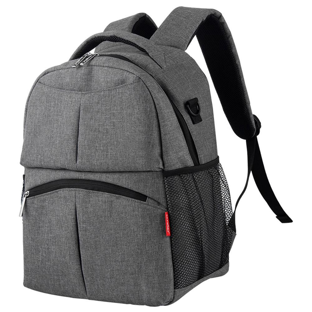 insular Fashion large capacity mommy baby diaper backpack Grey