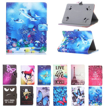 Myslc Printed Cover for DEXP Ursus KX310i TS310 A310 P110 N110 A210i Z310 A110i 10.1 inch Tablet Universal PU Leather Stand Case image