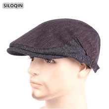 SILOQIN Autumn Winter Middle-aged Elderly Woolen Berets Simple Fashion Thicken Keep Warm Adjustable Size Gorras Men Tongue Cap