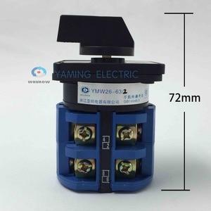 Image 3 - Rotary schalter 63A 2 Phase 8 schraube terminal 3 position Universal umstellung cam schalter silber kontaktieren
