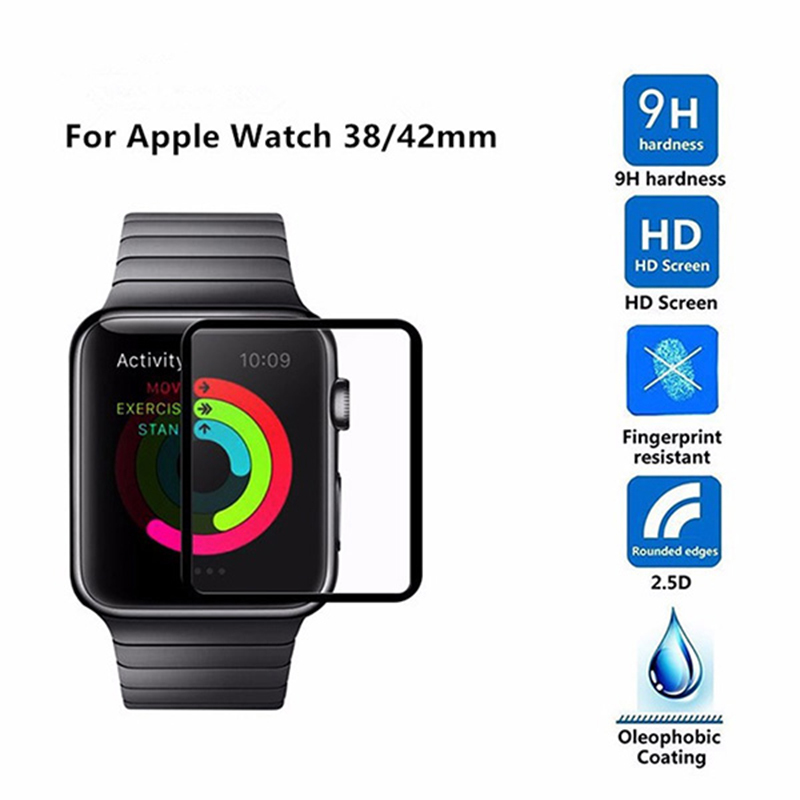 2.5D Full Cover Tempered Glass for Apple Watch Band 42mm Screen Protector 38mm Series 3 2 1 Protective Film Explosionproof Glass