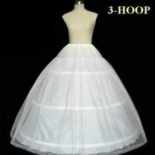 2018 Wedding Petticoat Underskirt 3 Hoops Crinolines A Line Long Petticoat for Women Bridal Dresses
