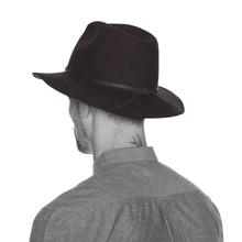 Конопляная шерсть с широкими полями зима осень мужская флоппи фетровая шляпа Федора для джентльмена Клош Панама Церковь Топ Кепка