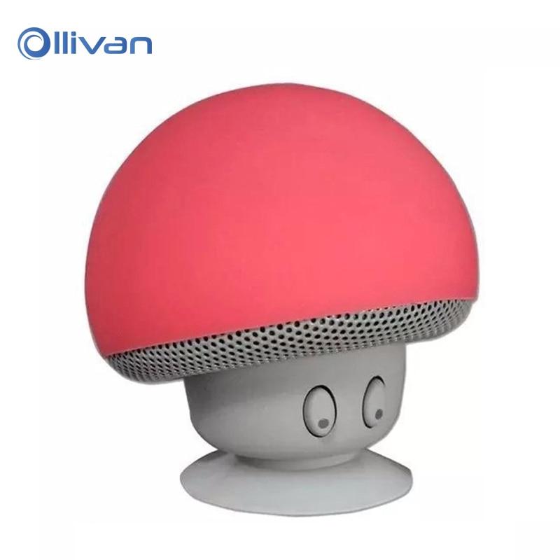 Mini Bluetooth Speaker Wireless Waterproof Speakers Bluetooth Portable Mushroom Heavy Bass Stereo Music Speaker With Microphone