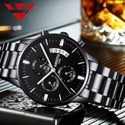 NIBOSI часы мужские Relogio Masculino Для мужчин часы Роскошные известный бренд Мужская мода повседневные платья часы военные Кварцевые наручные
