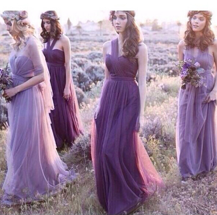 New Arrival 2015 Long   Bridesmaid     Dress   Fashion Design Halter Party Bridemaid Purple   Bridesmaid     Dresses   New Brand Clothes vestido