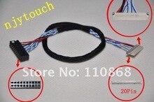 DF19-D6 20pin LVDS câble 26 cm long 1ch 6bit 6 bits 20 pins pour LCD contrôleur 12.1 pouce TFT LCD panneau LTN121X1-L01 universel DIY