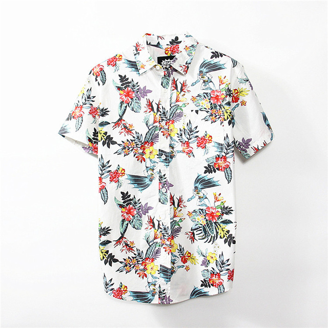 e5a26ab5bd1 Jeetoo Brand New Mens Hawaiian Shirt 2018 Summer New Casual Floral Printed  Short Sleeve Male Beach Slim Fit Shirts High Quality